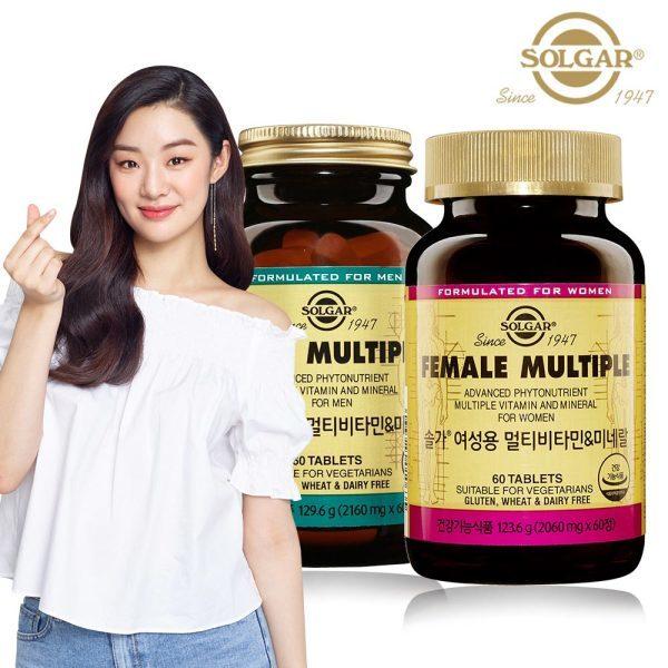 [솔가] 남성용 멀티비타민 (60정) + 여성용 멀티비타민 (60정), 상세 설명 참조