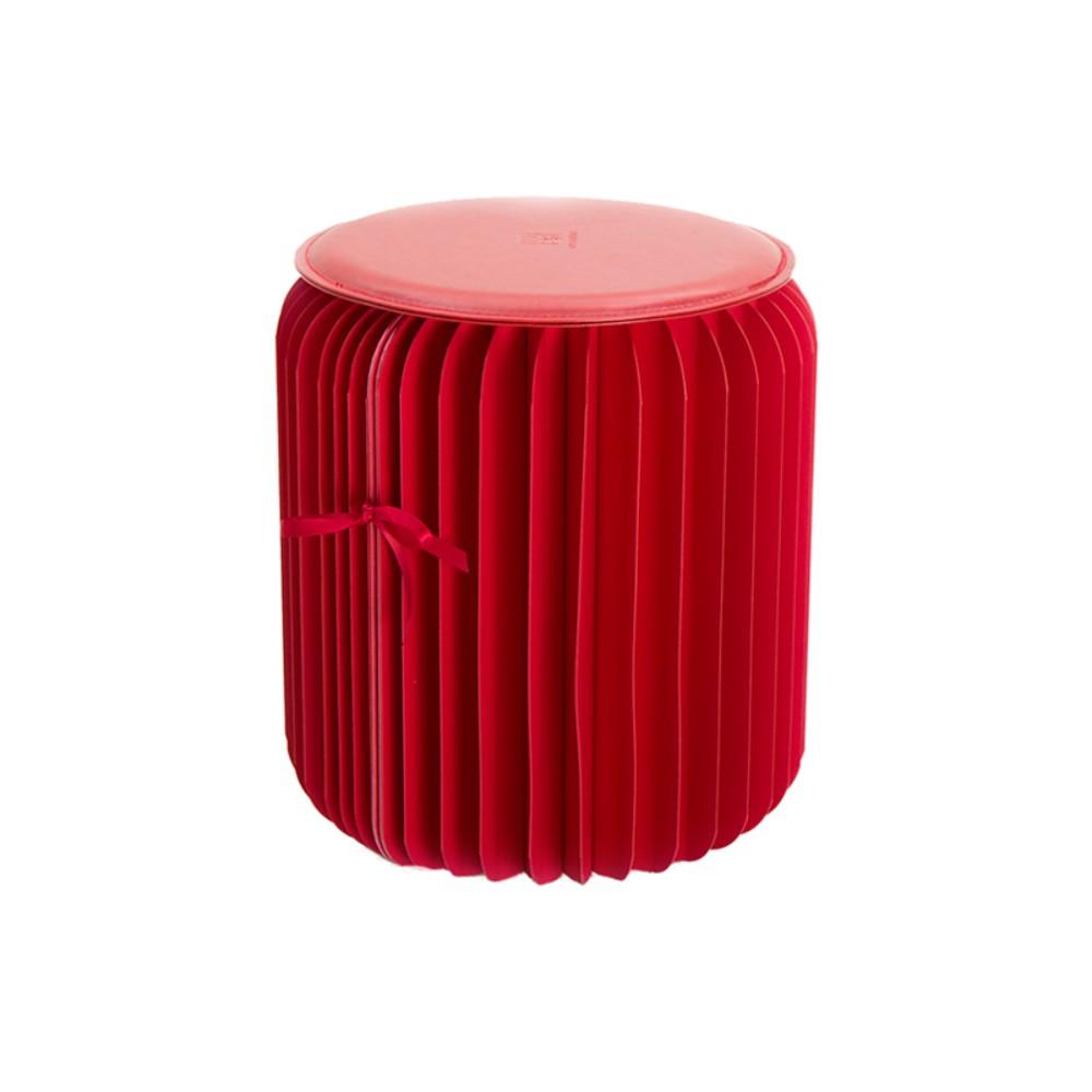 창의적인 인테리어 종이 의자 선물 르네상스 가구 신축 소파, 35cm 높이/레드 스툴