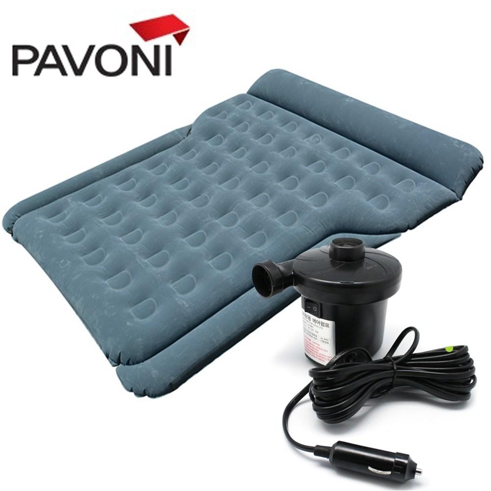 파보니 캠핑용 자동차 차량용 에어매트 추천, 에어매트(그레이)+에어펌프