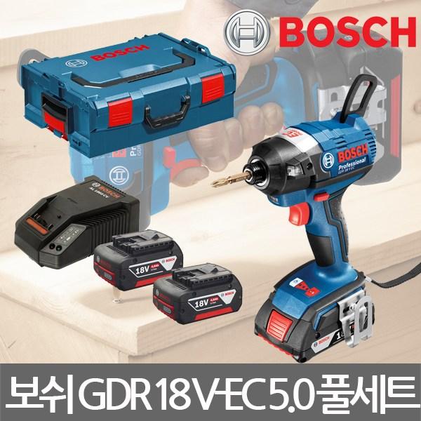 보쉬/GDR 18 V-EC/충전임팩트드라이버/5.0AH/풀세트, 1세트