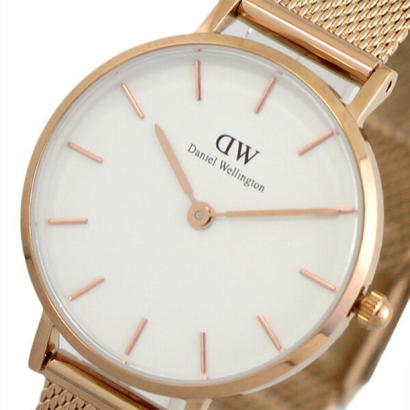 (~5/31)다니엘 웰링턴 DANIEL WELLINGTON손목 시계 DW00100219수정 화이트 핑크 골드 레이디스