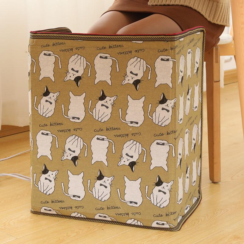 발열 패드 전기 발난로 발히터 풋워머 온열 따뜻한 겨울 사무실 가정용 WG20102477Z, 옐 로 만화 3 단