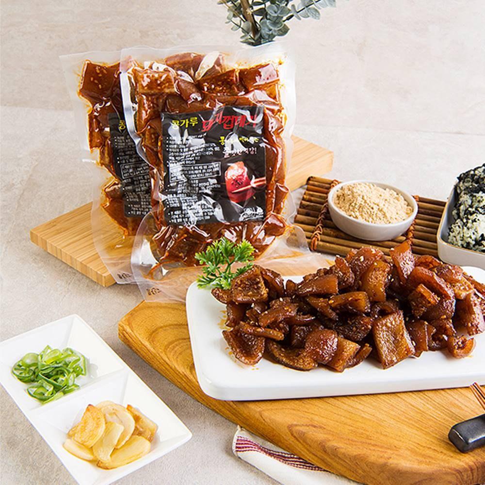 약선푸드 콩가루 돼지껍데기 양념 숯불구이(콩가루 무료증정), 5팩, 250g