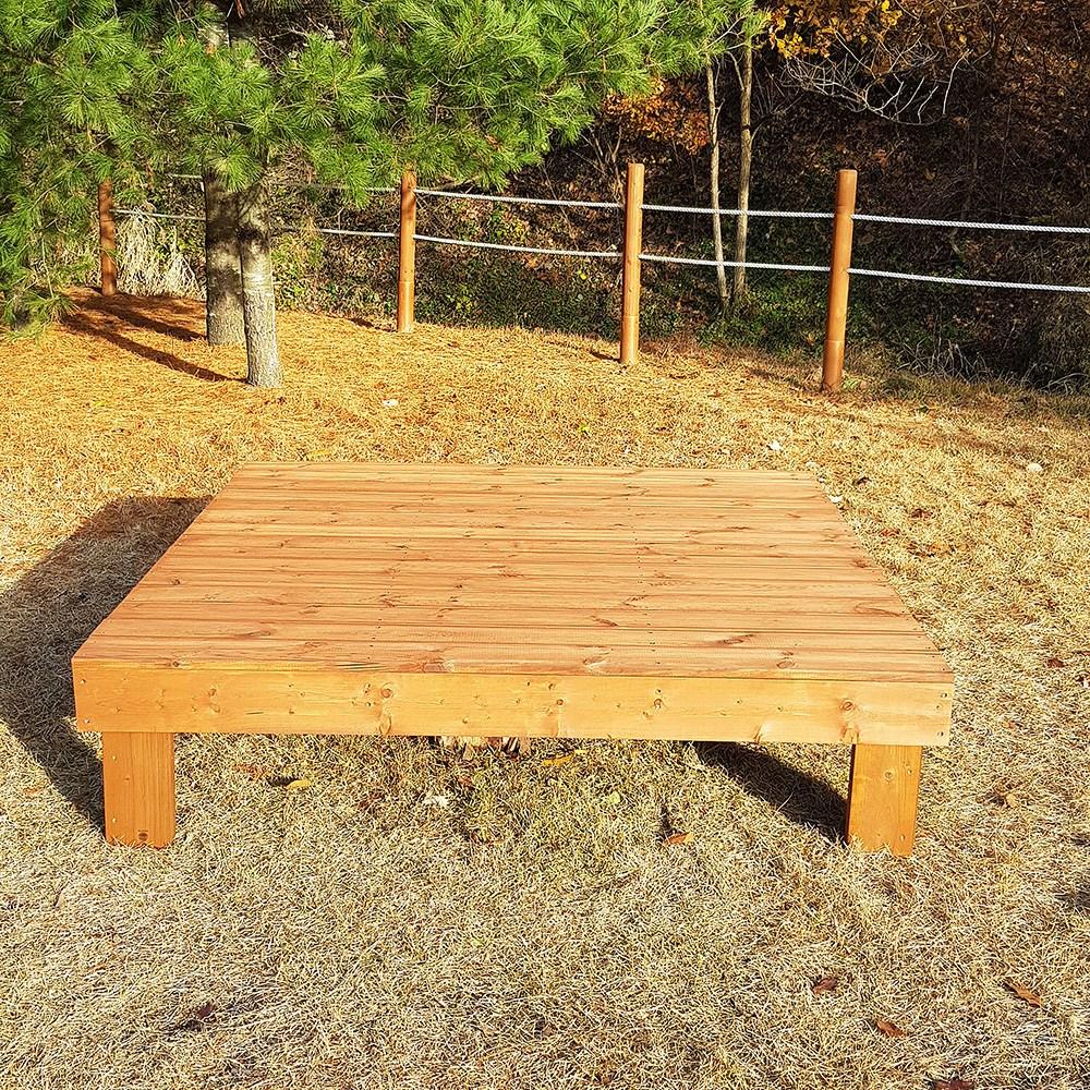 [자연쉼터] (도색가격) 방부목 조립식 마루 평상 야외 원목 나무 침대 도색제품, A1)방부목(1800*960)_투명색