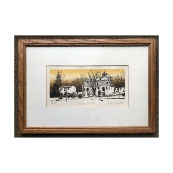 365145 Richard Ehrlich Autumn Grist Mill Signed Numbered Print 230/375