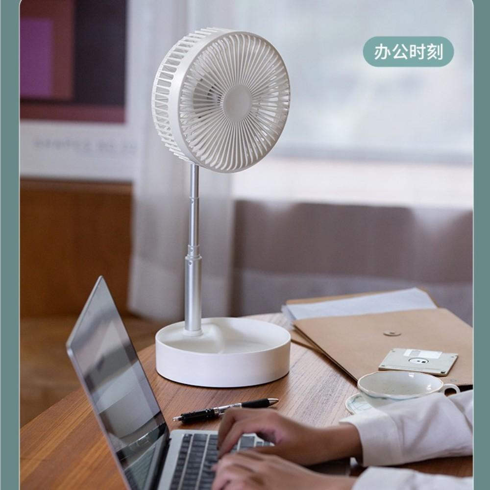무선 휴대용 무음 리모컨 탁상 학생 기숙사 침대 야외 여름 충전 선풍기 N9s N10, 화이트 높이조절 (POP 5691042995)