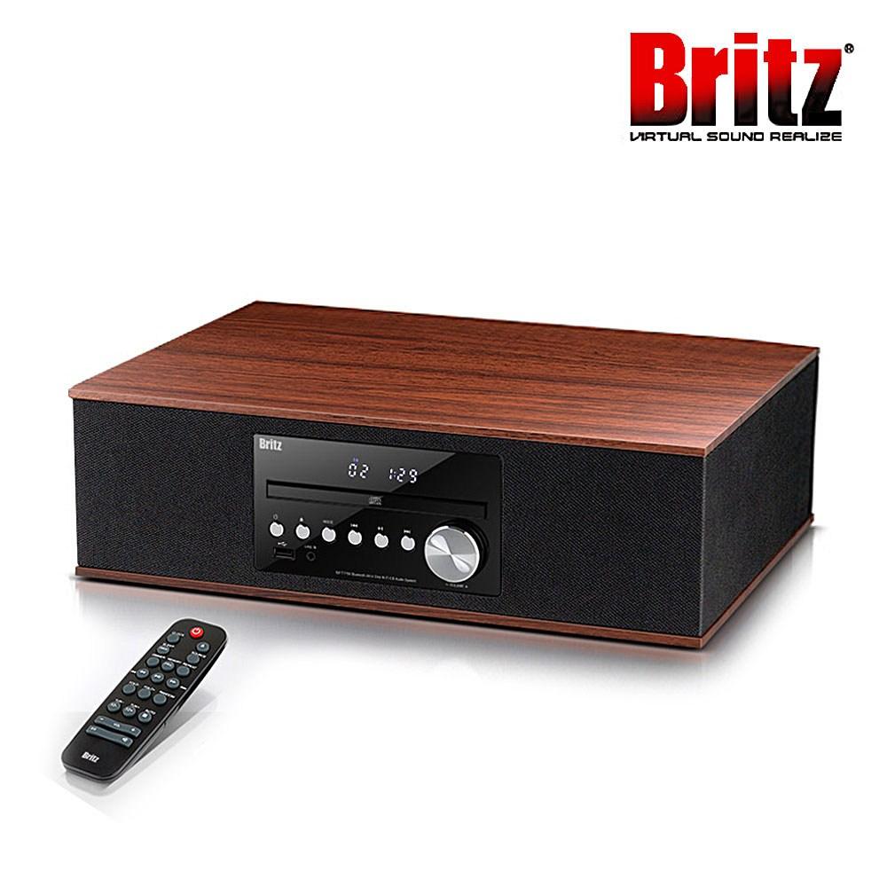 브리츠 BZ-T7750 블루투스 오디오 CD플레이 일체형 리모콘 제공