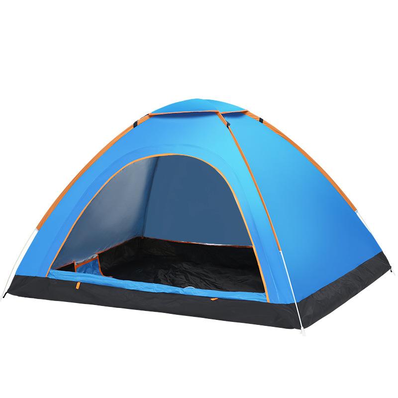 FBC A34 캠프 원터치 텐트 베이직 2인용, 블루
