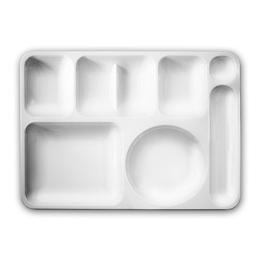 리빙메이트 PC 플라스틱 식판 모음, 성인식판 일반형 [3300]