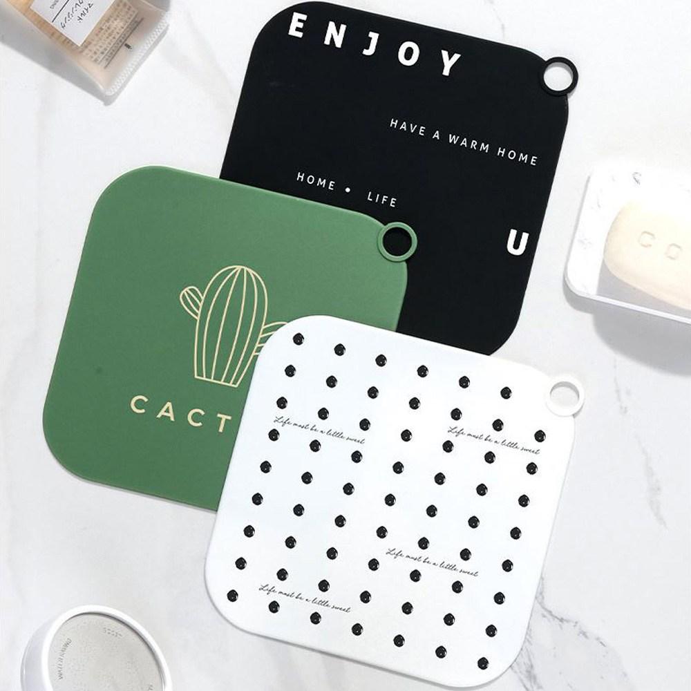 (e)월드비젼 실리콘 배수구 악취 차단 커버 3P세트 해충 냄새 화장실, 3개입, 악취차단커버