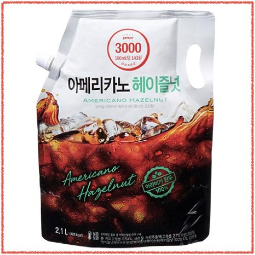 온리 프라이스 아메리카노 액상 커피 (리얼 블랙 헤이즐넛 스위트) 대용량 액상 커피 2100ml 1개, 리얼 블랙-3-5516803251