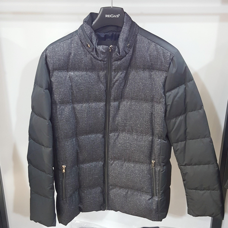 [행복한백화점][보스렌자]남성 기본라인 후드 오리털 다운 점퍼 그레이컬러 RFFHC8375