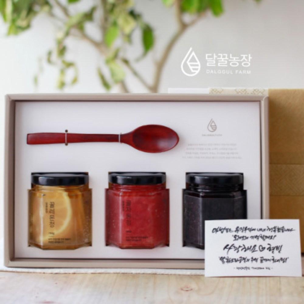 달꿀농장 꿀 수제 과일청 선물세트 (레몬청+딸기청+블루베리청)
