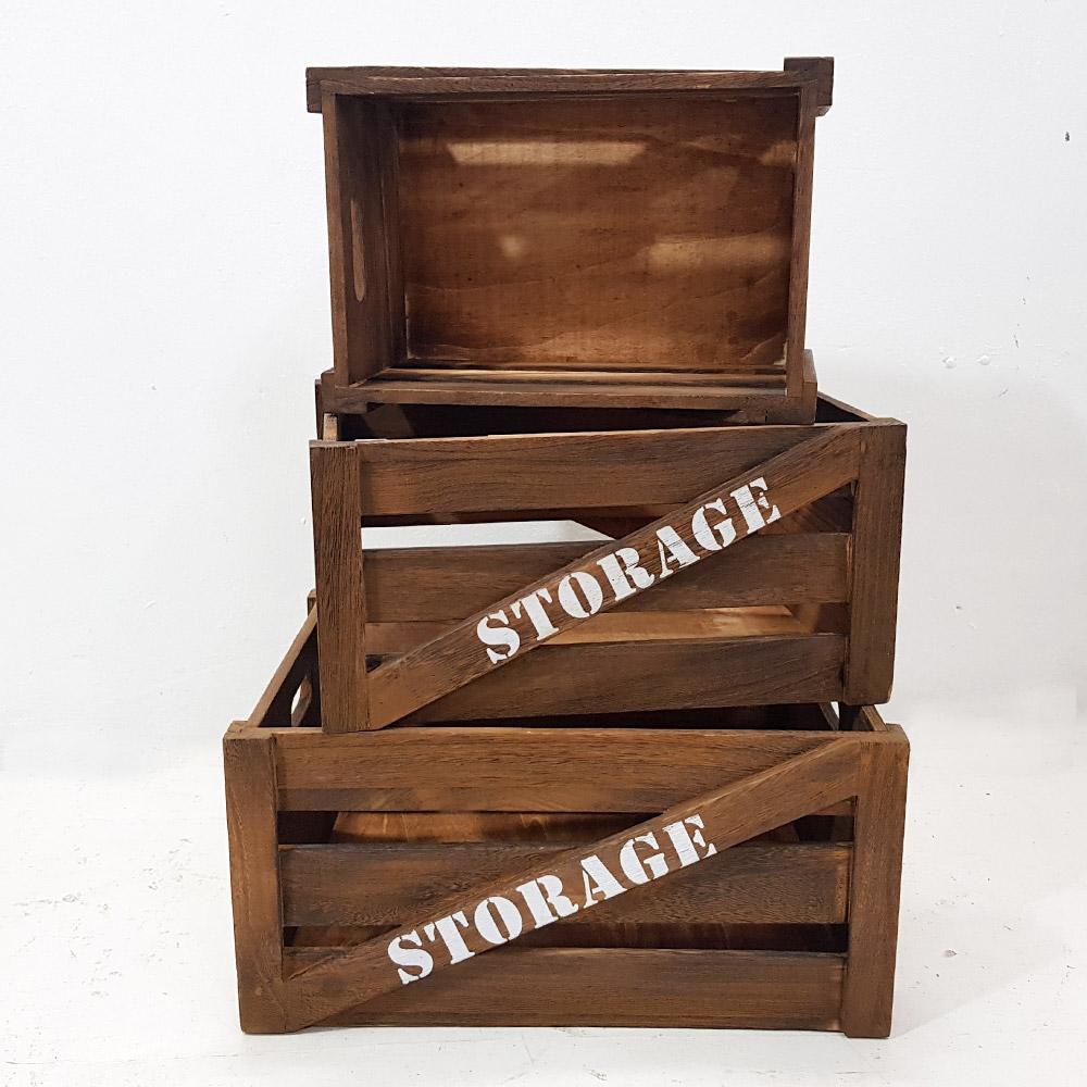 한소픈 스토리지 앤틱 우드박스 (중) 수납함 나무상자 사과박스 정리용품 공간박스 빈티지 와인박스, 1개