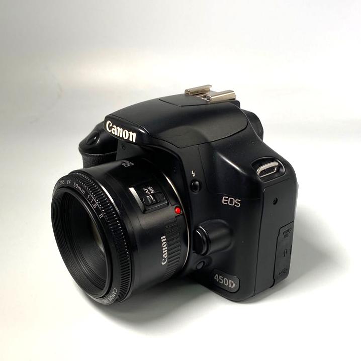 캐논 EOS 450D+50mm 렌즈+메모리 패키지 입문용 DSLR중고카메라 패키지, 캐논 EOS 450D+50mm 렌즈+패키지