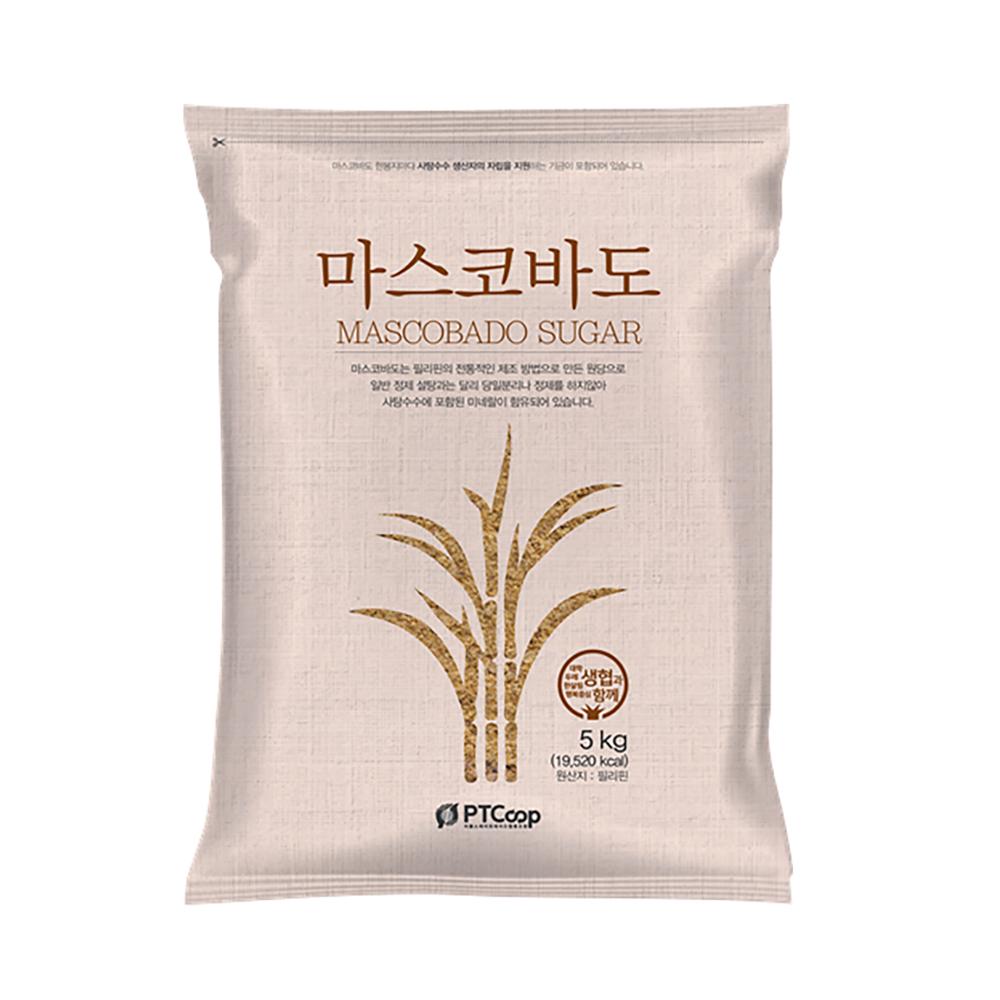두레생협 필리핀 유기농 사탕수수 무첨가 비정제 원당 마스코바도 5kg