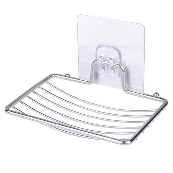 스텐 곡선 접착식 비누받침대+투명매직후크, 1set, 투명(접착패드색)