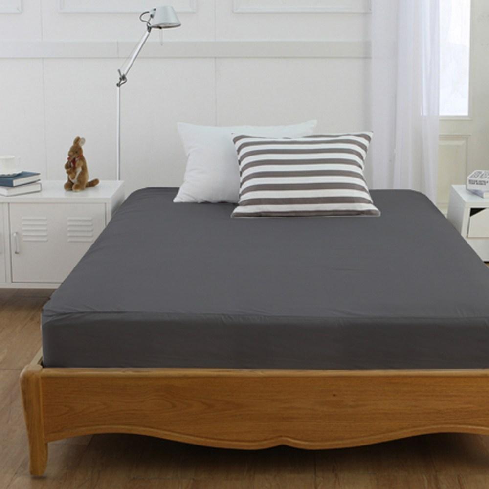밀리에르 Simple 빅사이즈 라지킹LK (170cm) 홑겹 침대 매트리스커버, 차콜