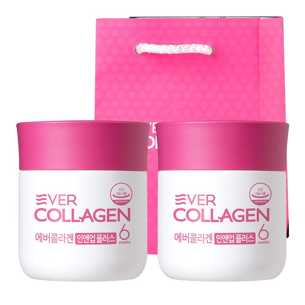 에버콜라겐 인앤업 플러스+미니쇼핑백 증정, 64g(6주분), 2병
