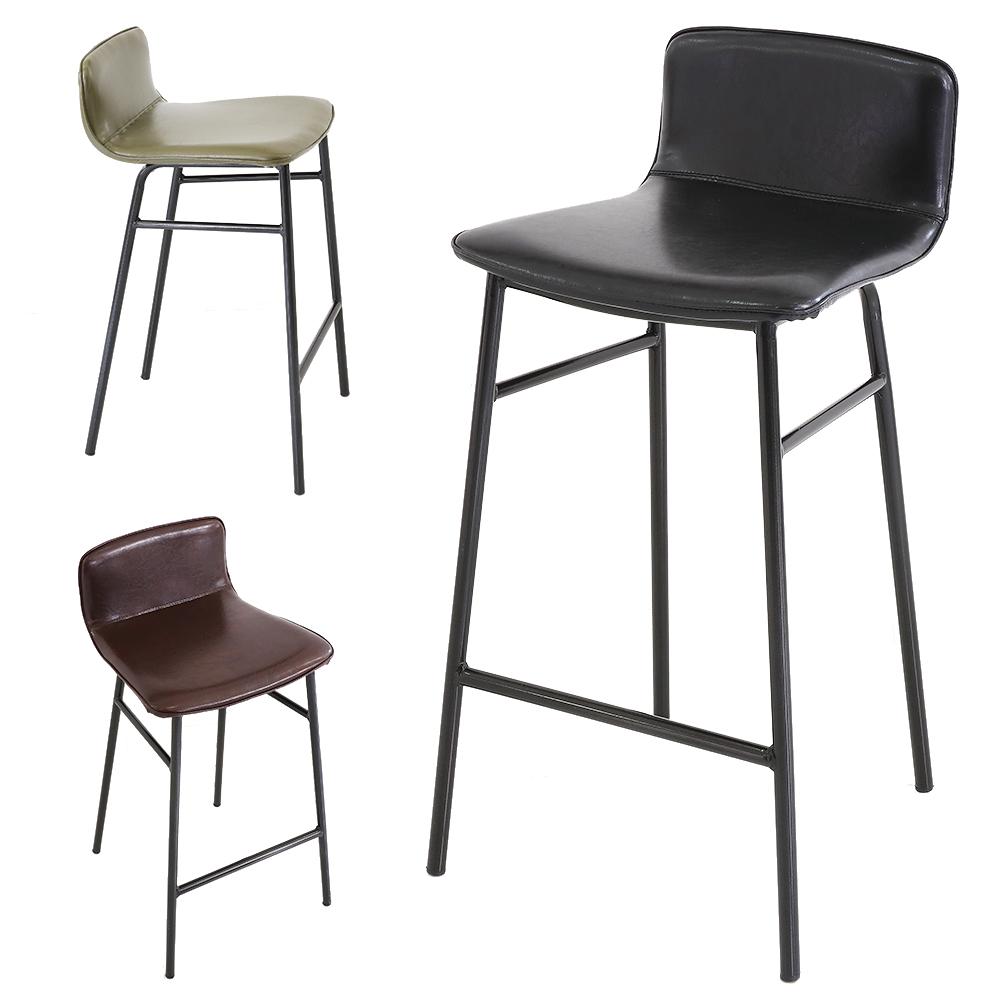 지니바체어 1+1 높은 홈바 빈티지 아일랜드 식탁 의자, 지니바체어-블랙 1+1