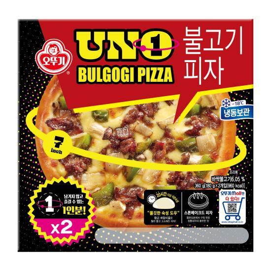 [오뚜기] UNO 불고기 피자 180g*2입, 상세 설명 참조