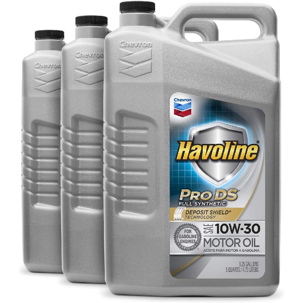 HAVOLINE HAVOLINE 223 505 485 PRO DS 전체 합성 10W30 오일 480 Fluid_ozs 3 팩, 5 Quart, 3 Pack