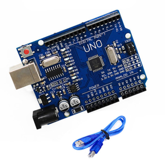 아두이노 우노 호환 보드 Arduino UNO R3 USB 저가형 케이블, 아두이노우노 저가형(케이블포함)