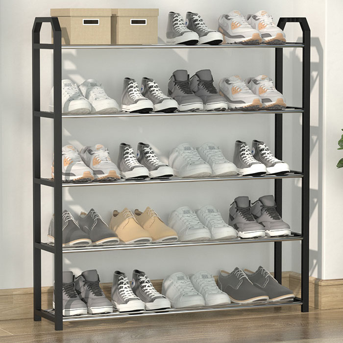 조립식 신발장 4단/5단/5단세로형, 블랙 (POP 5795230375)
