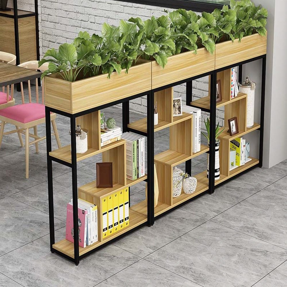 레어템 인테리어 가벽 수납장 주방 나무 원목 철제 원룸 공간분리 파티션 셀프가벽만들기, 80cmx29cmx110cm(브라운3단)