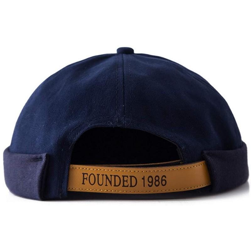 클레프 세일러 캡 챙이없는 모자 챙이없는 독특한 스트리트 캐주얼면 모자 캡 네이비 블루