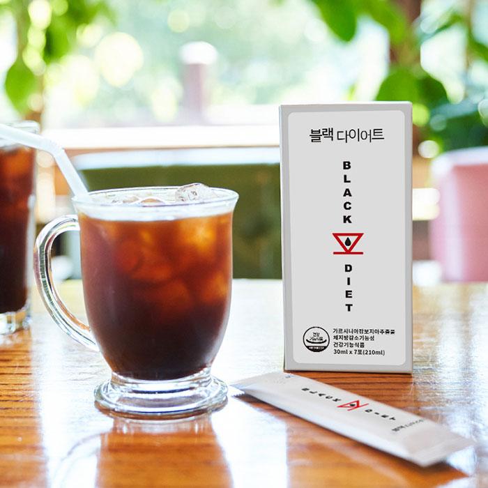 쏙쏙 살빠지는 블랙 다이어트 아메리카노 커피, 블랙다이어트200ml (7ea)
