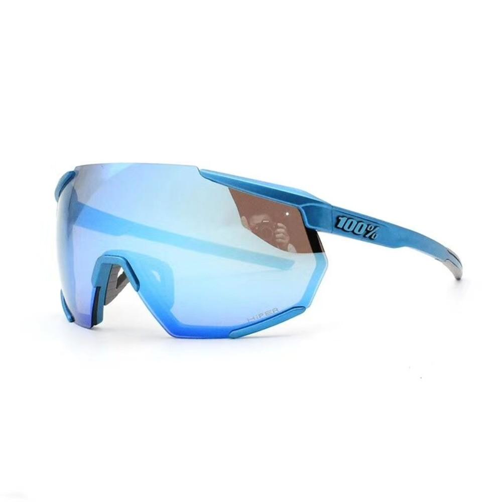 100%레이스트랩 100%스피드크래프트 스포츠 고글, 풀 블루 3 렌즈