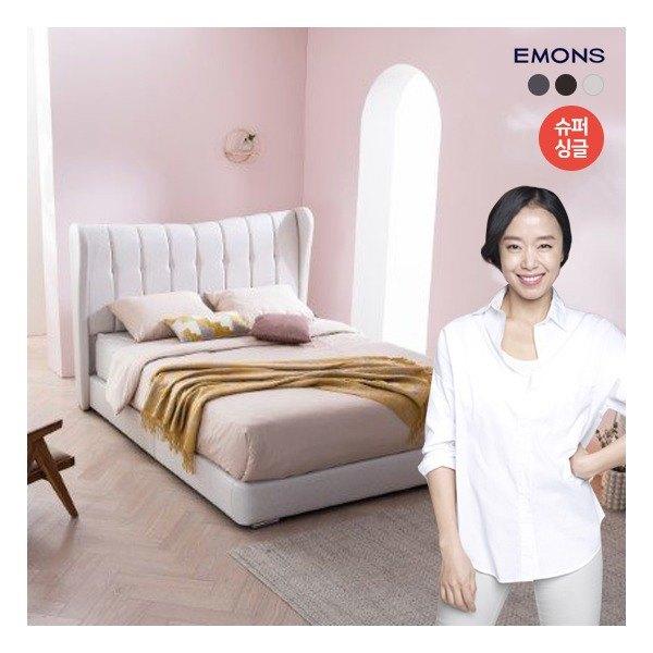 [에몬스] [슈퍼싱글SS] 오네 유로탑 매트리스 침대, 색상:월넛