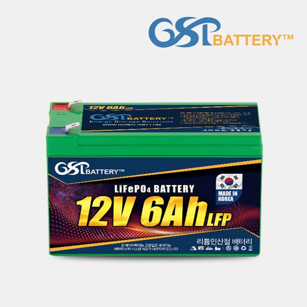 지에스피 리튬인산철 유아전동차배터리 12V6A, 12V LFP 6A 유아전동차 배터리
