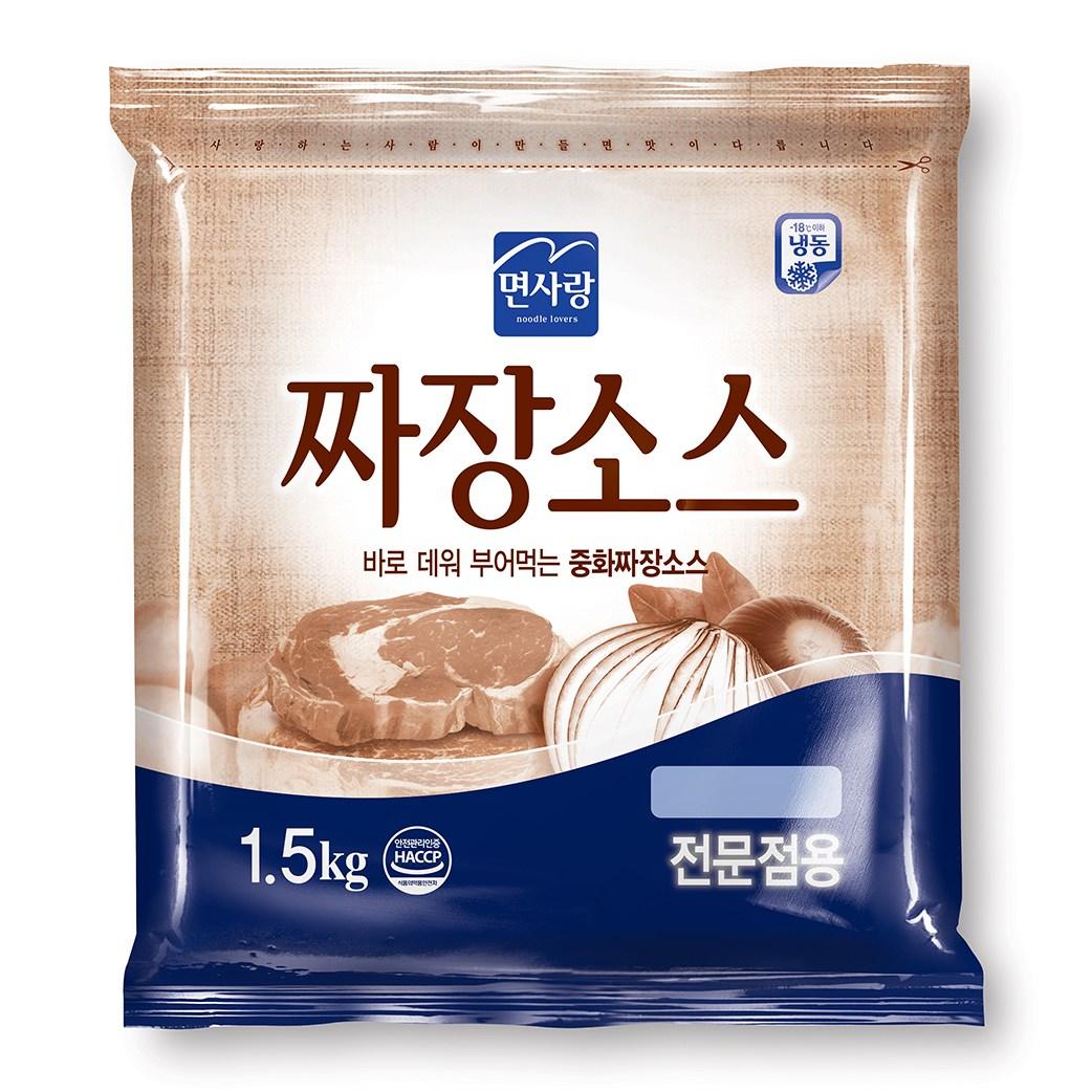 면사랑 짜장소스 1.5kg 전문점용 중식 짜장면 중화짜장 업소용
