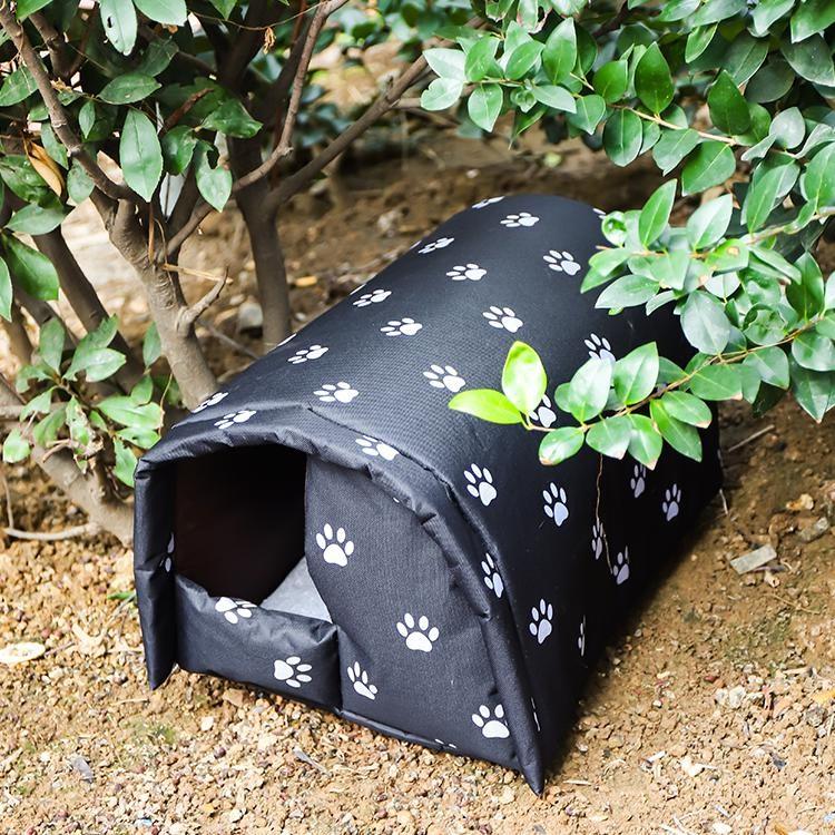 바미나래 방수 길고양이 길냥이 고양이 실외 급식소 숨숨집 하우스 겨울집, 블랙_XL