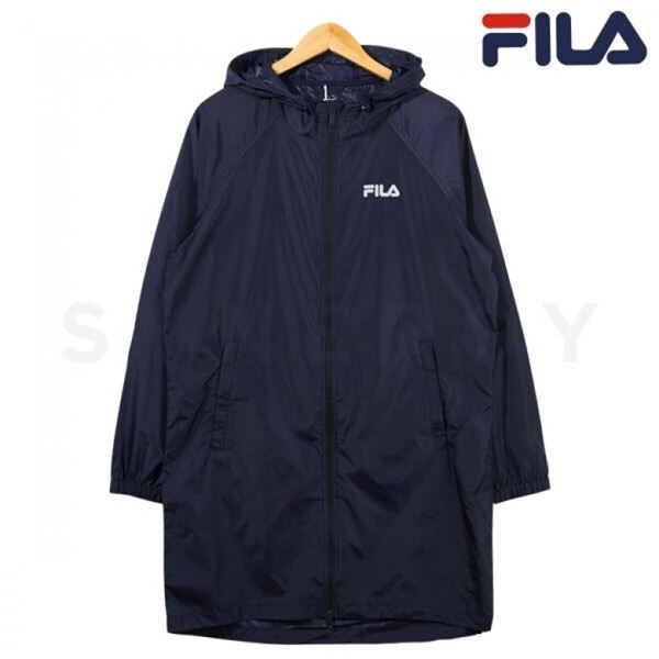 FILA 휠라 남성 홑겹 하프 코트 자켓 네이비 FS2JKB1201M