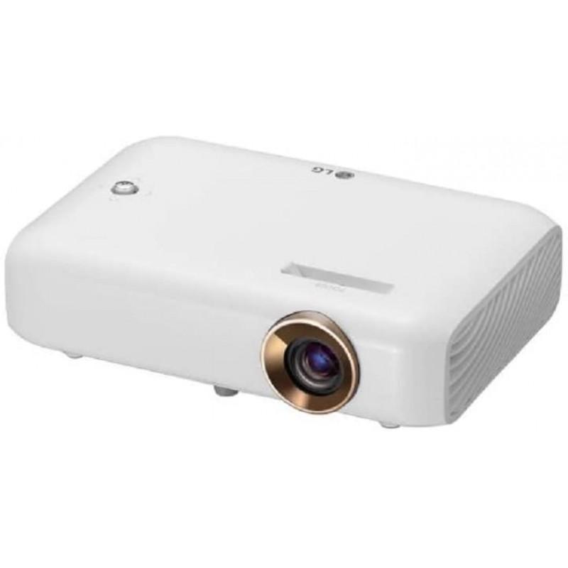 LG 비머 PH550G 최대 254cm(100인치) 씨네빔 LED HD 프로젝터(550루멘 무선 화면 공유 기능) 화이트, 단일상품