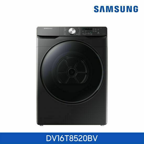 [삼성]건조기 그랑데 16kg 블랙 DV16T8520BV, 스타일:상단설치(무료)