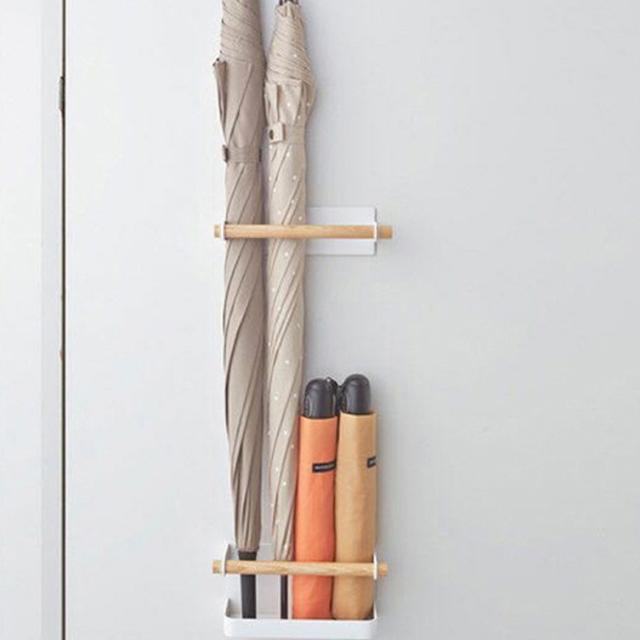 제이제이 우산꽂이 부착형 자석 우산 걸이 심플 인테리어, 1개