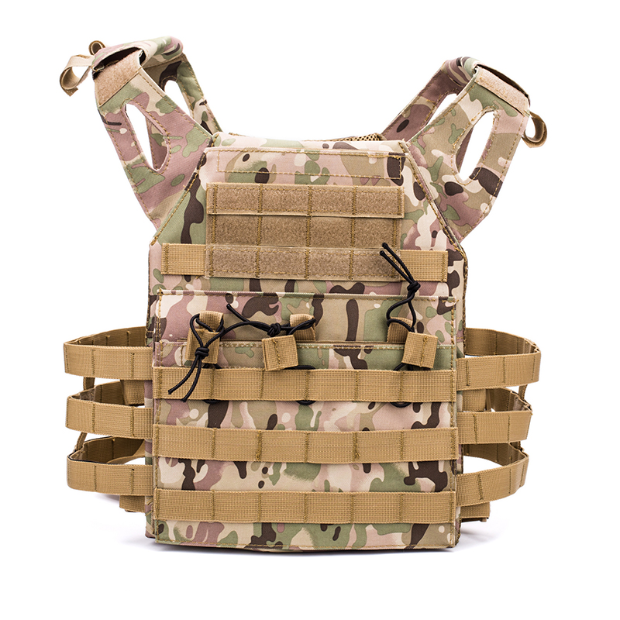 ESDY JPC 경량 전술 방탄 조끼 서바이벌 용품 밀리터리 소품, 샌드카모플라주