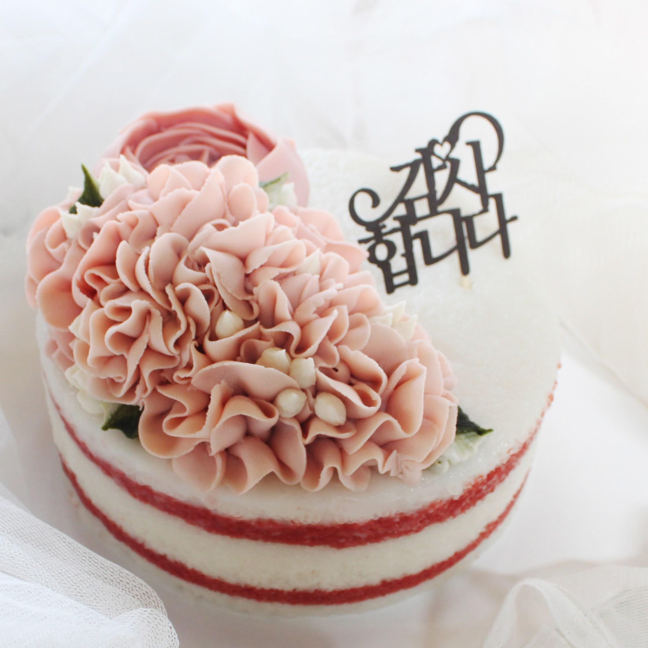 (주)예맛떡 [사랑하는이에게] 러브레터1호 앙금플라워 떡케이크 (아이스&전국배송), 1kg, 1개
