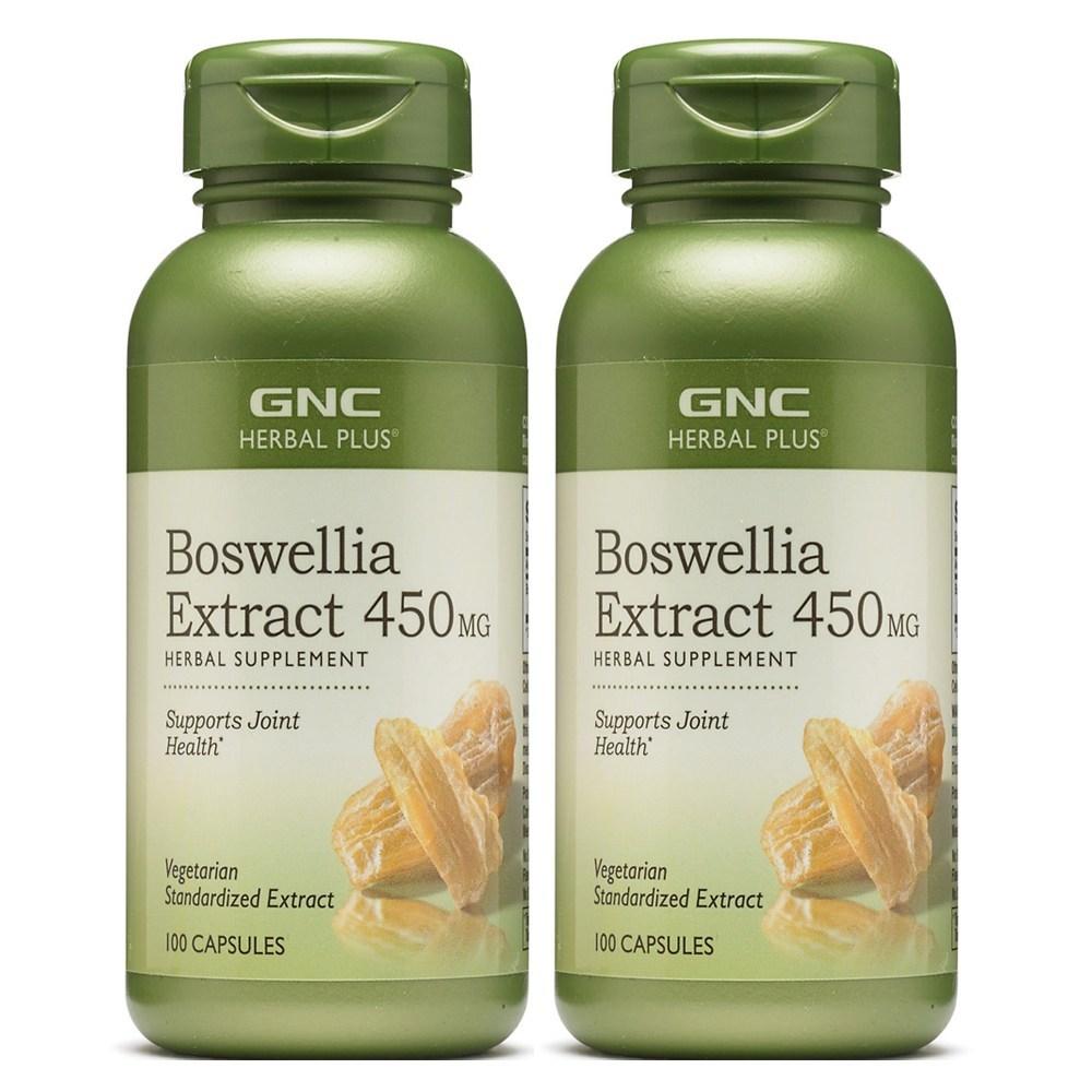 [ 2병세트] GNC 보스웰리아 Boswellia 450mg 100정 BOSWELLIA EXTRACT 450MG 100CAP, 2병-9-1238200834