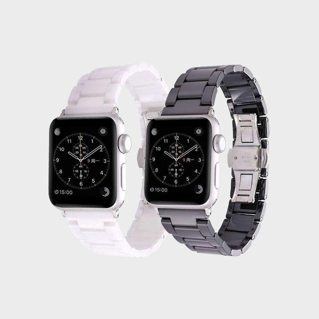 [천삼백케이] [하이가이] 애플워치 5 4 3 2 1 세라믹 스트랩, 블랙