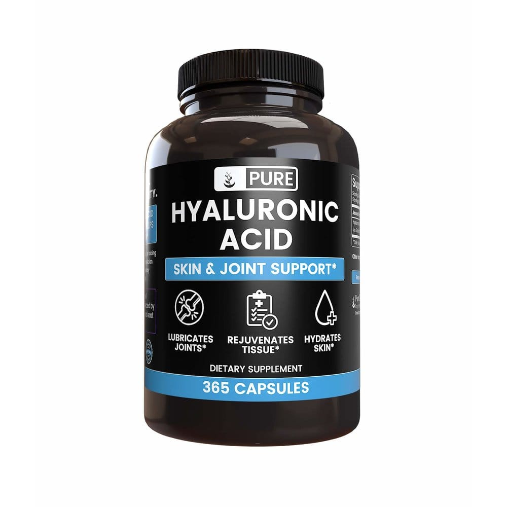Pure Organic Ingredients 퓨어오가닉인그레디언트 Natural Hyaluronic Acid 먹는 히알루론산 1팩, 365ct