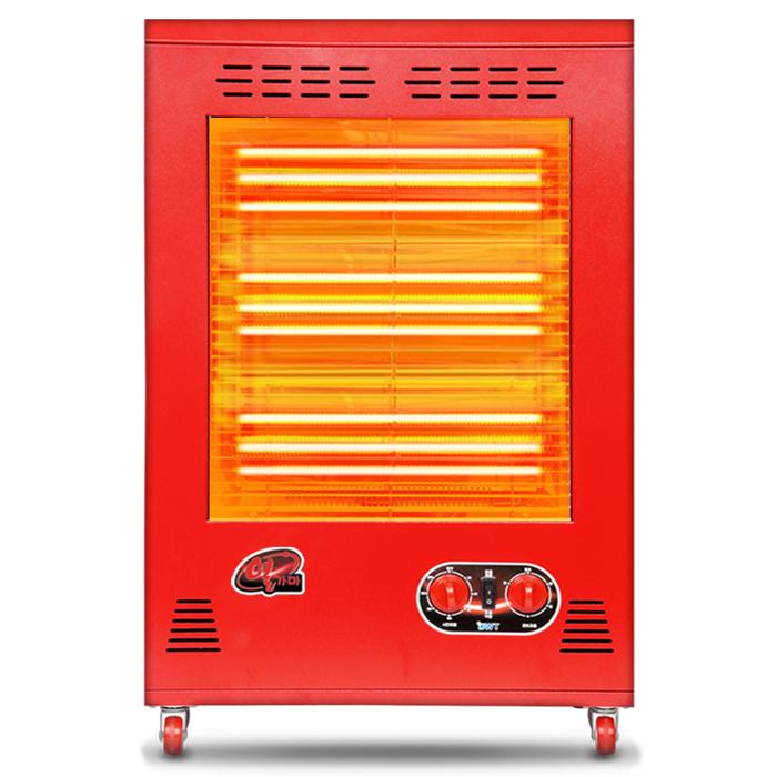 열가마 다우테크 사각3종모음전추위에오들오들떨지말자! 전기난로온풍기전기히터, 레트로레드, 근적외선-3100(온풍O)