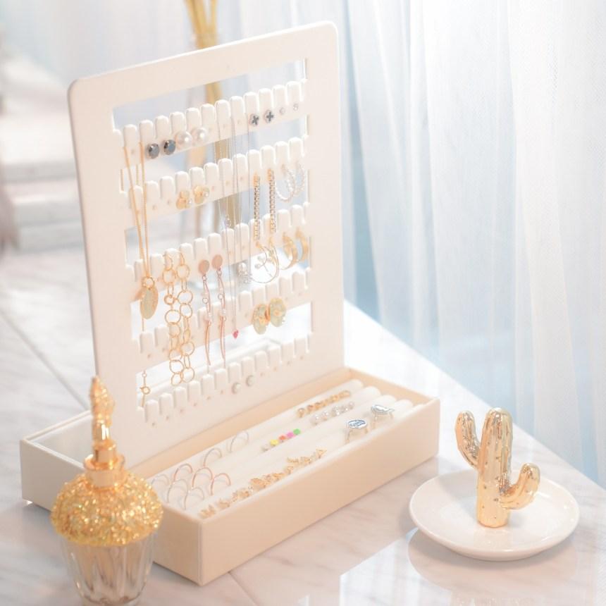 카와이 드레스룸 악세사리 보관함 귀걸이 트레이 보석함(반지트레이+귀걸이판)