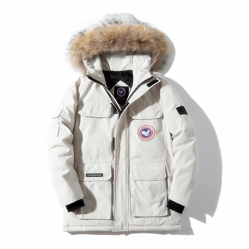 다운 코트 거위 겨울 와이드 루즈핏 빅사이즈 두꺼운 화이트 오리털 덕다운 커플 카고 트렌드 빅사이즈겨울야상