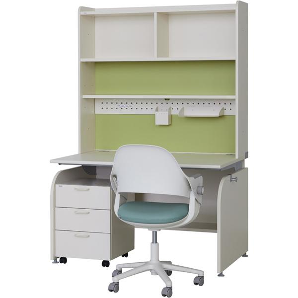 일룸 [SET] 링키 서랍형 책상세트 + 시디즈 링고의자, 아이보리+그린:인조가죽-블루