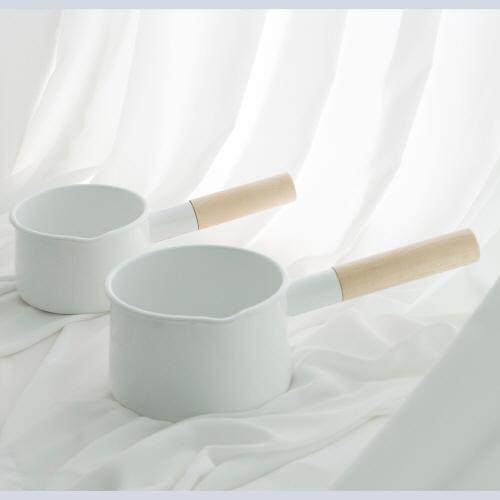 카이코 법랑 밀크팟 범랑냄비 법랑밀크팬 2size, S